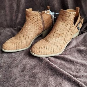 Women's Brown Ankle Booties with Buckle
